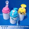 bouteille d'eau en plastique de gosses d'enfants de l'impression 400ml de blanc fait sur commande de sublimation