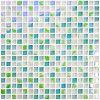 Mosaico del vidrio cristalino del azulejo de la pared de Backsplash de la cáscara y del palillo de la calidad de la exportación