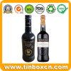 Botella de vino de metal personalizados tin box para Whisky Vodka