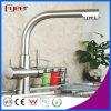 O bronze cromou o misturador da água do filtro do Faucet do dissipador de cozinha de 3 maneiras