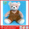 Presente da promoção do urso da peluche do luxuoso com calças do bebê