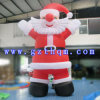 PVC Christmas Inflatable Large Santa Claus / Inflatable Christmas Yard Décorations