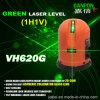 Danpon dos vigas pone verde niveles del laser