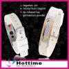 Bracelete de silicone de metal Ion negativo de Hottime (CP-JS-GM-003)