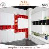 現代高い光沢のあるハンドルの食器棚