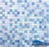Ice Iridescent Jade Mixed Colors Hot Melt Glass Mosaic per Pools