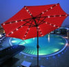 Heißer Verkaufs-Strand-Regenschirm/Licht des Sonnenschirm-LED
