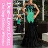 Зеленое платье Mermaid партии вечера Applique Sequin