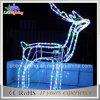 Свет веревочки мотива северного оленя рождества товарного сорта 3D