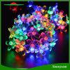 50의 LED 복숭아 꽃 장식적인 정원 잔디밭 안뜰 크리스마스 나무 결혼식 빛이 태양 에너지 요전같은 끈에 의하여 점화한다