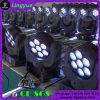 Farbe des Träger-7X12W, die LED-bewegliches Hauptlicht ändert