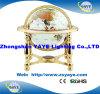 Globo dourado do mundo do globo de Gemstone da cor do branco do carrinho 330mm/220mm/150mm da cor de Yaye 18
