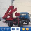 Auge hidráulico montado camión de la construcción carro de la grúa de 3 toneladas para la venta