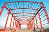 Almacén estructural de acero funcional Pre-Dirigido del color rojo