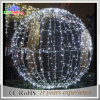 Esfera ao ar livre do diodo emissor de luz do Natal do motivo da luz 3D do feriado da decoração