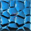 Het blauwe Mozaïek van het Metaal van het Roestvrij staal van de Kubus van het Water van de Kleur (CFM890)