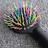 Bonbons antistatique Rainbow Ballon de massage Peigne à cheveux avec miroir