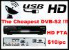 Récepteur satellite Full HD DVB-S2 FTA de haute qualité