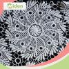 Merletto nigeriano indiano del merletto del ricamo del fiore di Sun della guipure africana del tessuto