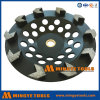 다이아몬드는 화살 세그먼트 콘크리트와 대리석을%s 가는 컵 바퀴를 도구로 만든다