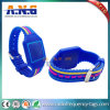 Wristband di Lf di HF del chip multifunzionale RFID di frequenza ultraelevata/silicone attivi del braccialetto