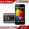 ROM 540 x 960 Andriod 4.2OS 8MP Camera del gigahertz 1GB RAM 4GB de Elephone P7 Mini Quad Core 5.0 Inch Cell Phone Mtk6582 1.3