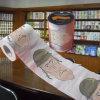 Essuie-main de papier estampé par coutume en bloc de roulis de tissu de toilette de paquet