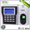 Sistema biométrico do comparecimento do tempo da impressão digital com TCP/IP, USB