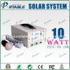 mini sistema de energia 10W solar portátil com rádio (PETC-FD-10W)