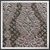 Розовый пайетками вышивание кружевной ткани Mesh цветов вышивка кружевом