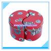 Boîte de empaquetage en métal de cadeau irrégulier de bidon