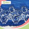 環境に優しい材料の青い綿織物の多色刷りのギピールレースのレース