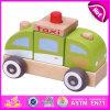 2015 Novo Produto Wood Taxi Car Mini Toys Brinquedos de presente, alta qualidade Kids Wooden Taxi Toy Car, Promotional Taxi Wooden Toy Car W05c010