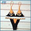 Costume da bagno sexy del bikini del taglio di livello dello Swimwear lucido delle donne della spiaggia