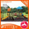 Campo de jogos ao ar livre de borracha do jardim de infância da corrediça do projeto da infância