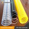 Haute pression en acier clair sur le fil flexible d'aspiration en PVC renforcé