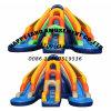 2つの車線子供のゲームのための膨脹可能な水スライド
