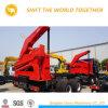 Le transfert de conteneur de levage et le transport auto chargement camion-remorque de conteneur