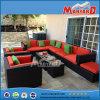PET Polyrattan im Freien/Garten-Möbel 7 Seater Sofa