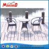 [بيسترو] [رتّن] طاولة وكرسي تثبيت أسود خارجيّة حديقة أثاث لازم