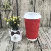 Kraftpapier-doppel-wandige Wegwerfpapierkaffeetasse