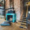 Escaleras rectas usadas prefabricadas del metal del hierro labrado para de interior