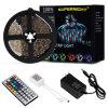 Tecla 24 Controlo remoto por infravermelhos 5m/16,4 FT 5050 SMD RGB LED 300 PI20 Luz de LED com mudança de cor
