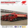 Трейлер топливозаправщика серной кислоты веса тары 8t нержавеющей стали