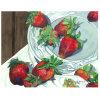 Fábrica de Arte de la pintura directa, pintura al óleo de la decoración, excelente Art Still pintura de la fruta vida (fresa)