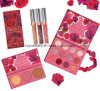 Jeu de renivellement de palette de point culminant de marché des changes Rosa Colourpop Karrueche Lipgloss Eyeshaodw
