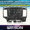 Witson Car DVD para Mitsubishi Lancer Car 2007-2012 DVD GPS 1080P DSP Capactive Screen WiFi 3G Front DVR Camera