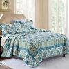 Kundenspezifische vorgewaschene haltbare bequeme Bettwäsche steppte die Bettdecke der Bettdecke-3-Piece, die mit Blaupausen eingestellt wurde