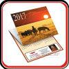 Calendario de pared plegable de 3 meses de la impresión de encargo