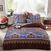 Insieme della Boemia dell'assestamento di Boho della decorazione della stanza del lenzuolo della tessile domestica variopinta indiana della mandala